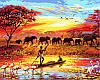 Набор-раскраска по номерам Закат над Нилом