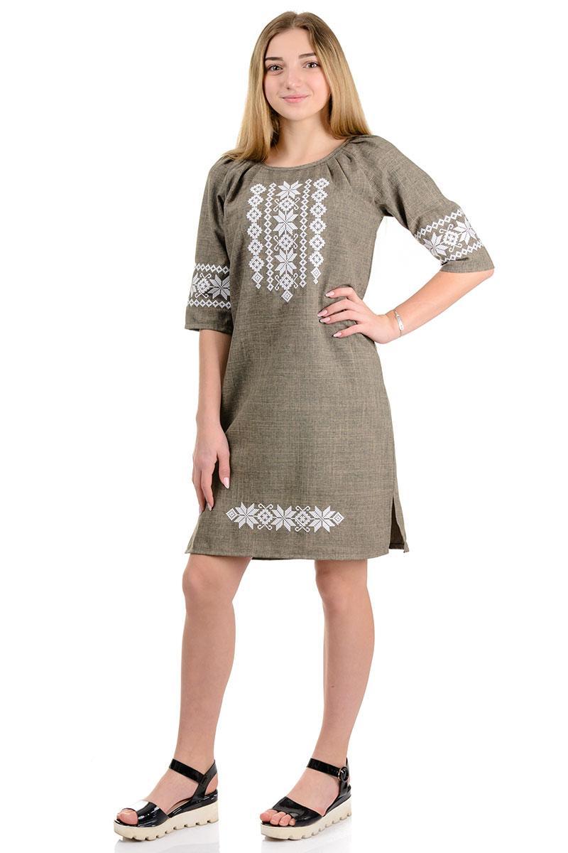 Женское платье с вышивкой, размеры 42 - 52
