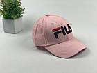 Кепка бейсболка Fila (розовая большое лого), фото 4