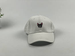 Кепка бейсболка Dog бульдог (белая)