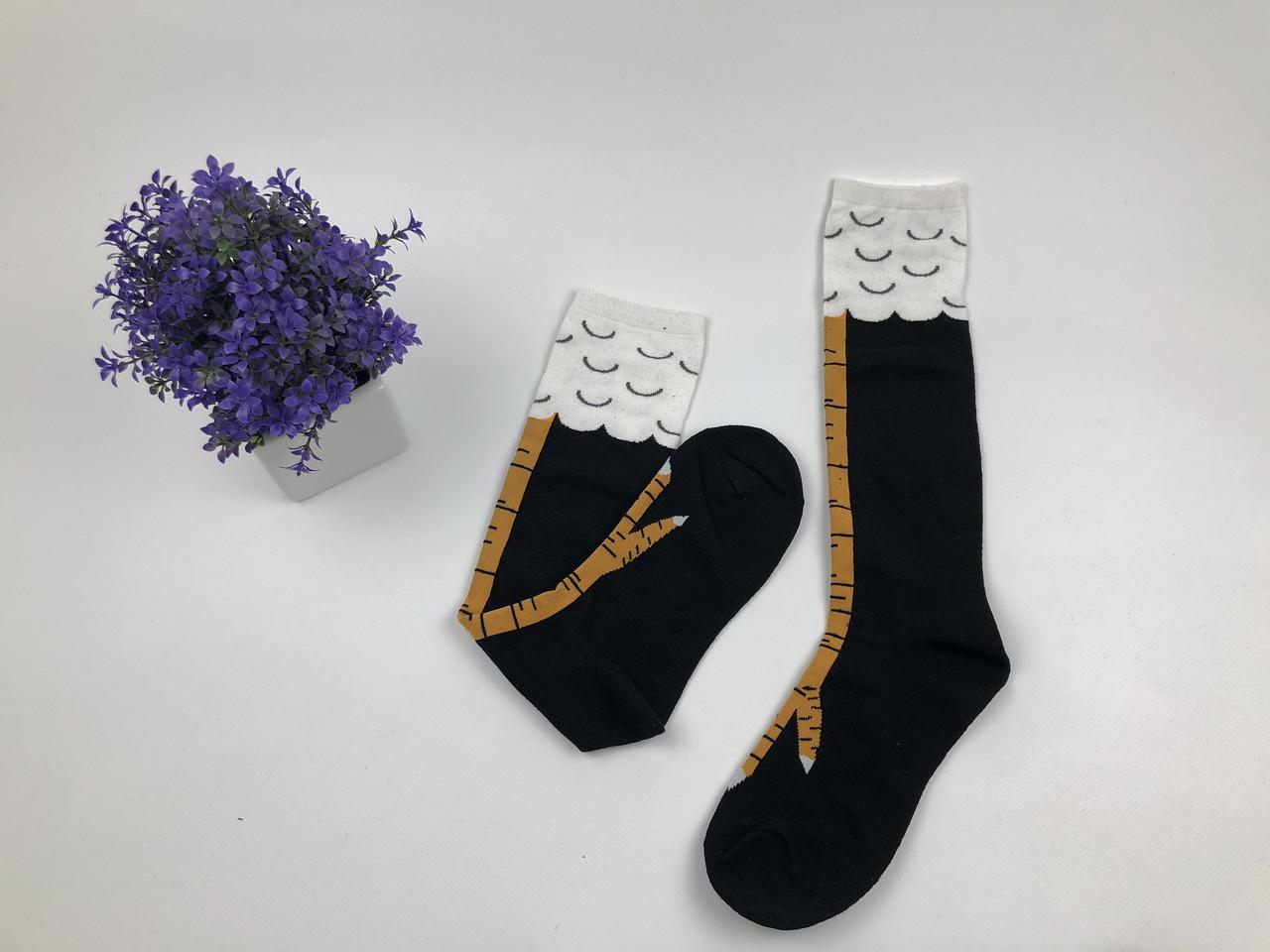Носки-Гольфы высокие Лапки (черные)