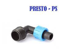 Старт угловой для ленты с 3/4 наружной резьбой Presto-PS