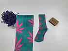 Носки HUF Plantilife - высокие - бирюзовые (розовый лист), фото 5