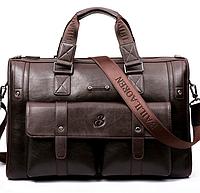 Мужская сумка кожаная BailiLaoren Коричневый