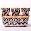 Бамбуков хлебница из бамбукового волокна Kamille KM-1131 с бамбуковой крышкой 3 емкости для хранения, фото 2