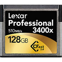 Карта памяти Lexar Professional 128 Гб 3400x CFast 2.0 Compact Flash, фото 1