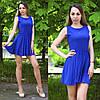 Летнее платье женское цвета синий электрик