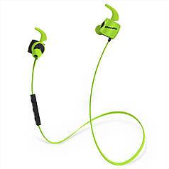 ★Bluetooth гарнитура Bluedio TE Green беспроводные вакуумные наушники с микрофоном водостойкий корпус