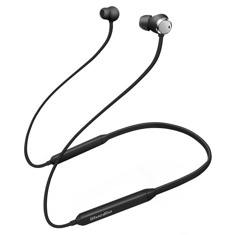 ✓Bluetooth гарнитура Bluedio TN Black вакуумные музыкальные для смартфона и планшета беспроводные наушники