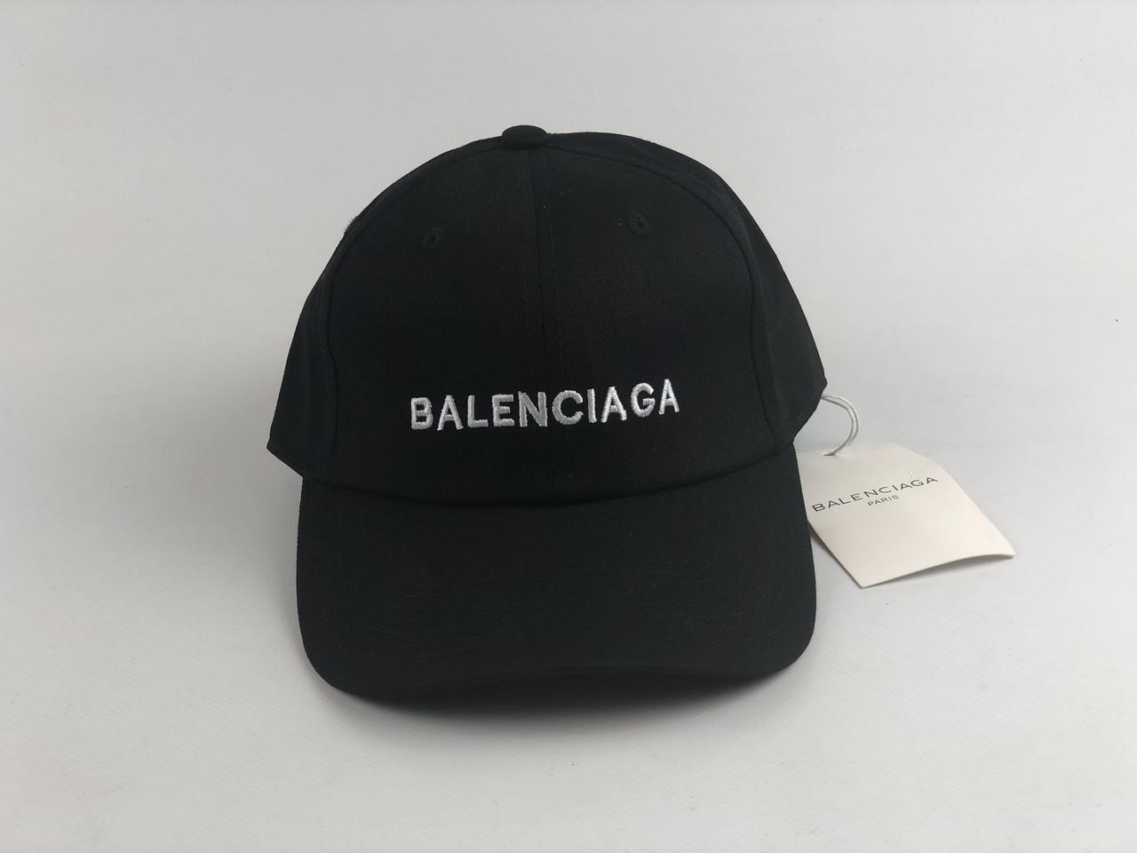 Кепка бейсболка Balenciaga  Lux (черная)