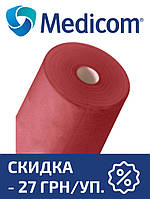 Одноразовая простынь в рулоне красная MEDICOM Standart 25г/м.кв 80 х 100