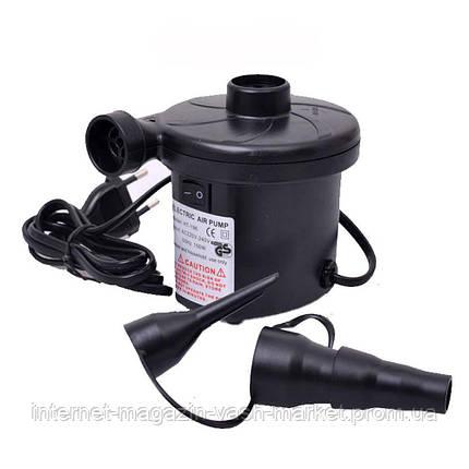 Электрический насос 220В, компрессор для надувных матрасов, бассейнов, лодок, кроватей, фото 2