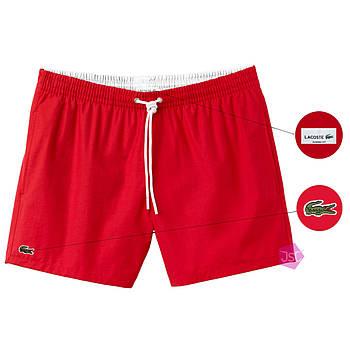Мужские шорты Lacoste (ориг.бирка) красный