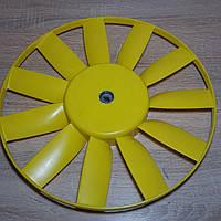 Вентилятор системы охлаждения крыльчатка электровентилятора Газель,Соболь,Волга желтый (пр-во Херсон)