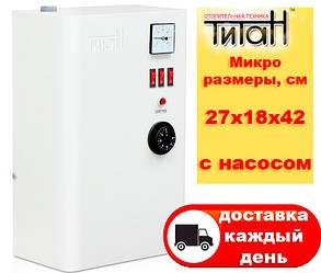 Электрический котел ТИТАН Микро Настенный 4,5 кВт 380В с насосом