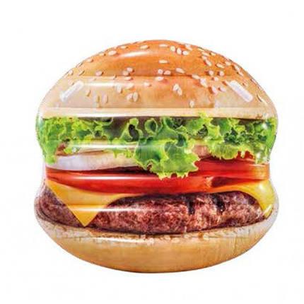 Пляжный надувной матрас - плот Intex 58780 «Гамбургер», 145*142 см, фото 2
