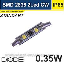Світлодіодний модуль SMD 2835/2, 12V, WHITE 7000К-12000К