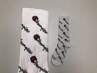 Носки Champion  pattern высокие - белые