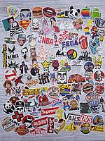 Водоотталкивающие стикеры на ноутбук, авто, велик, скейт, Стикербомбинг, виниловые наклейки НАБОР №2 - 100 шт