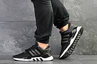 Кроссовки мужские черно белые Adidas Equipment 91/18, мужские весенние кроссовки (Реплика)