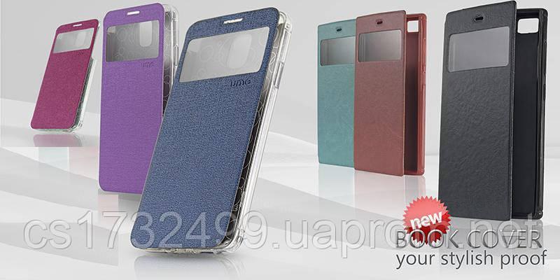 "Чехол-книжка ""Book Cover with Window"" Nokia X2 New red"