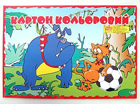 Картон цветной детский для поделок А4 Фолдер 9л. 235г/м