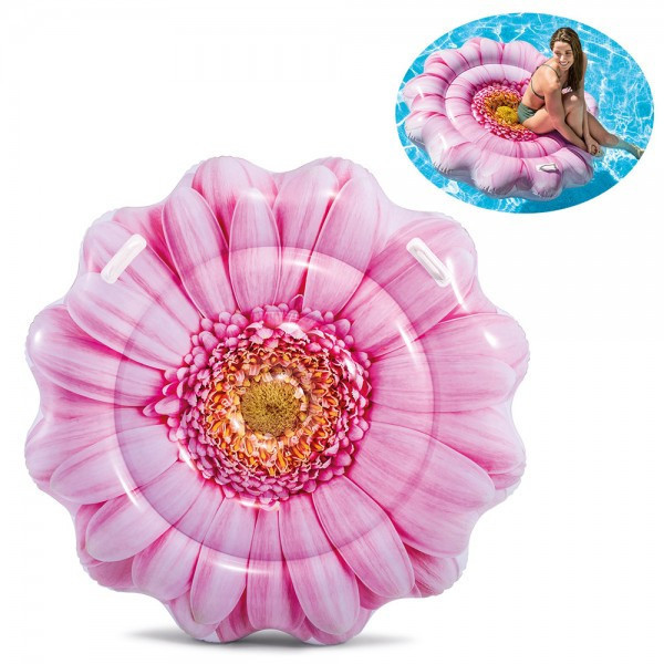 """Надувной Плотик, матрас Intex  58787  """"Розовый цветок"""" размером 142*142см"""