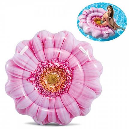 """Надувной Плотик, матрас Intex  58787  """"Розовый цветок"""" размером 142*142см, фото 2"""