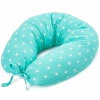 """Подушка для кормления новорожденных и беременных Veres""""Smiling animals""""  165х70  Smiling animals beige"""