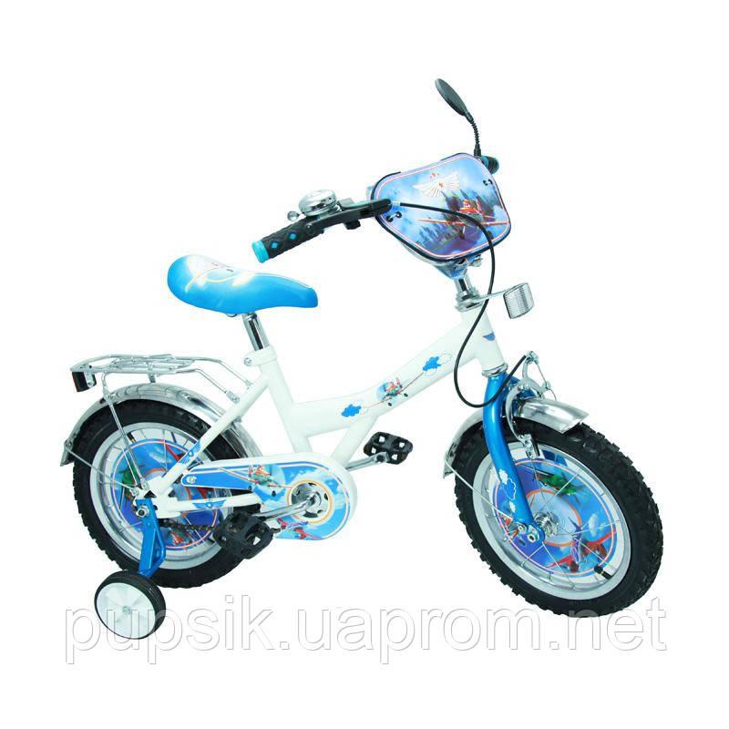 """Велосипед Самолеты 14 BT-CB-0010 белый с голубым, система: """"One piece crank"""""""