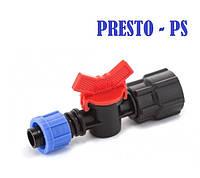 Кран для капельной ленты с 3/4 внутренней резьбой Presto