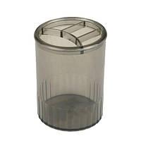 Стакан-підставка Delta круглана, 90x70мм, на 4 відділення, пластикова, димчата (d4009-28)