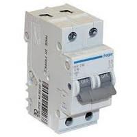 Автоматический выключатель In=6 А, 2п, С, 6 kA, 2м Hager (MC206A), фото 1