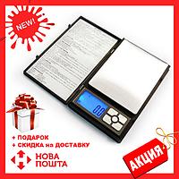 Ювелирные электронные весы книжка Notebook 1108-2 2000gr/0.01g, Новинка