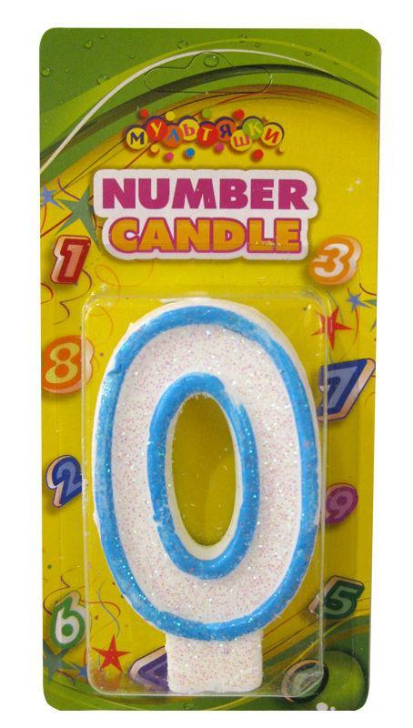 Свеча для торта Цифра 0 HS122-0
