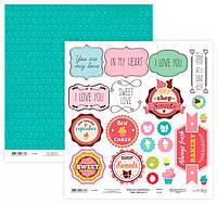 Бумага для скрапбукинга Rosa Talent 30*30см Cake delicious 3 двухсторонняя 200 г/м 5316021