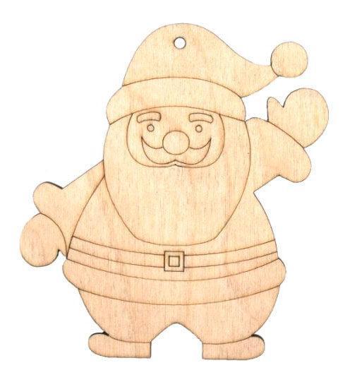 Заготовка для декорирования Rosa Talent (фанера) Дед мороз 4 9х10см 4801502