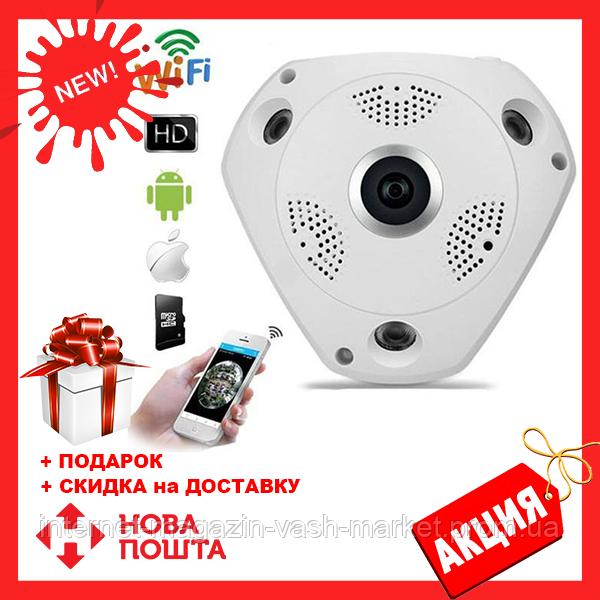 Панорамная IP Камера Видеонаблюдения Потолочная CAD 1317 VR CAM 3D Wi-Fi DVR, Новинка