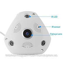Панорамная IP Камера Видеонаблюдения Потолочная CAD 1317 VR CAM 3D Wi-Fi DVR, Новинка, фото 3