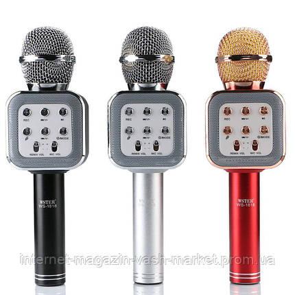 Беспроводной Bluetooth караоке-микрофон DM Karaoke WS1818, Новинка, фото 2