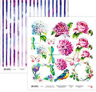 Бумага для скрапбукинга Rosa Talent 30*30см Floral Poem 19 двухсторонняя 200 г/м 5316031