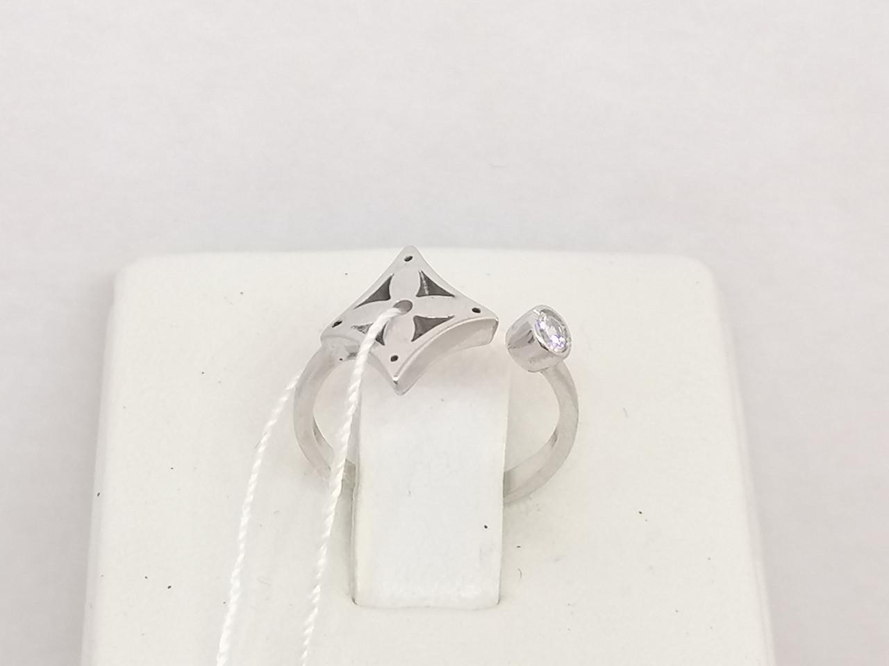 Серебряное кольцо с фианитом. Артикул 3819 14