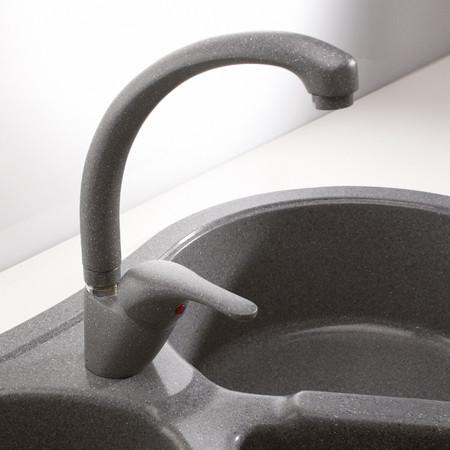 Кухонный смеситель Alveus КМ 10 (Algranit) (с доставкой)