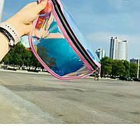 Сумка на пояс прозрачная женская, поясная сумка голограмма