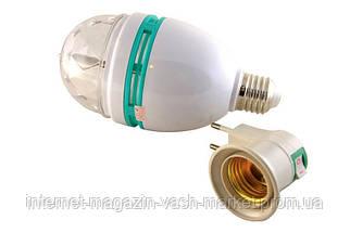 Диско лампа вращающаяся LED lamp для вечеринок LASER LY 399 E27, фото 2