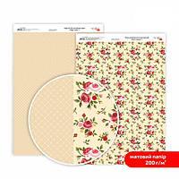 Бумага для дизайна Роса Talent А4 200г/м матовая двухсторонняя Магия роз-1 5318001
