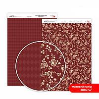Бумага для дизайна Роса Talent А4 200г/м матовая двухсторонняя Магия роз-5 5318005