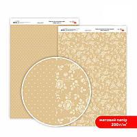 Бумага для дизайна Роса Talent А4 200г/м матовая двухсторонняя Магия роз-6 5318006