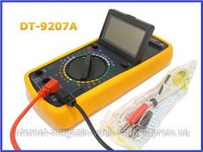 Мультиметр DT-9207A, многофункциональный цифровой тестер, мультиметр с жк дисплеем, фото 2