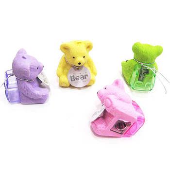 Ластик-резинка с точилкой 3D Eraser Медвежонок ассорти №0169